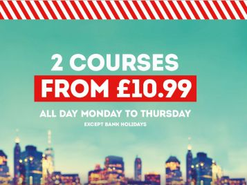 Enjoy Fridays Feast - 2 Courses from £10.99 at Fridays