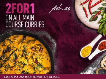 2for1 at Asha's