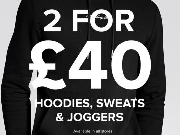 Mens 2 for £40 at River Island