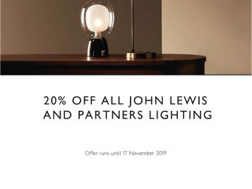 20% off all John Lewis and Partners lighting